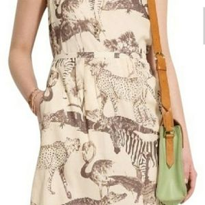 Madewell silk zebra print sleeveless dress sz 2